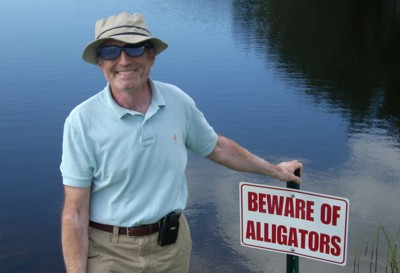 Beware of alligators.